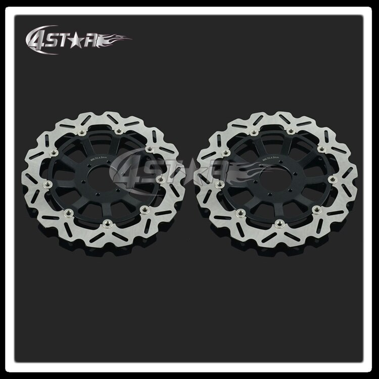 2 piezas negro delantero de la motocicleta flotante Rotor de disco de freno para CBR1100XX Blackbird CB1100SF CB1300 CB1300F SC42 1100CC 1284CC