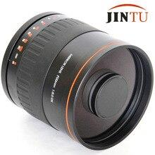 JINTU 900mm professionnel miroir téléobjectif manuel mise au point TOP objectif + + T2 montage adaptateur anneau pour Canon EOS DSLR caméra plein cadre