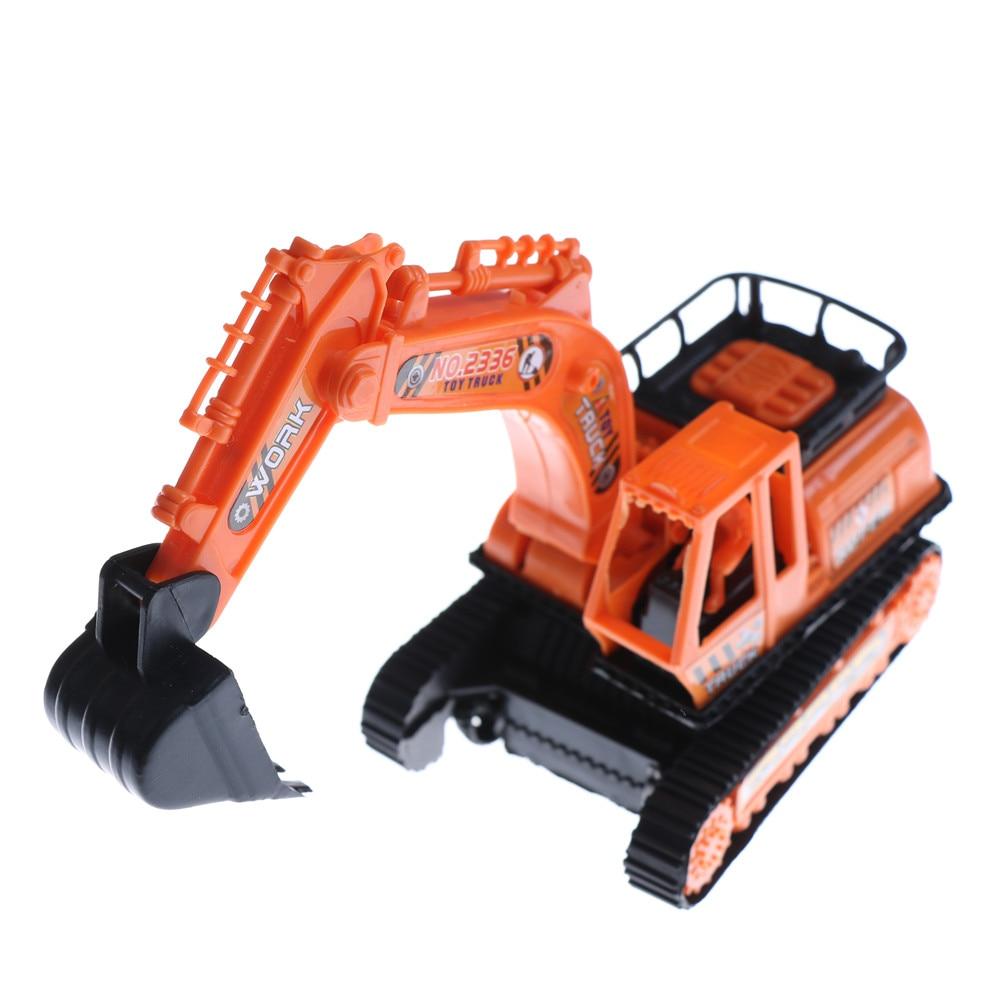 1 pcs grande tamanho plástico escavadeira modelo de simulação alta laranja engenharia escavação máquina brinquedos para crianças