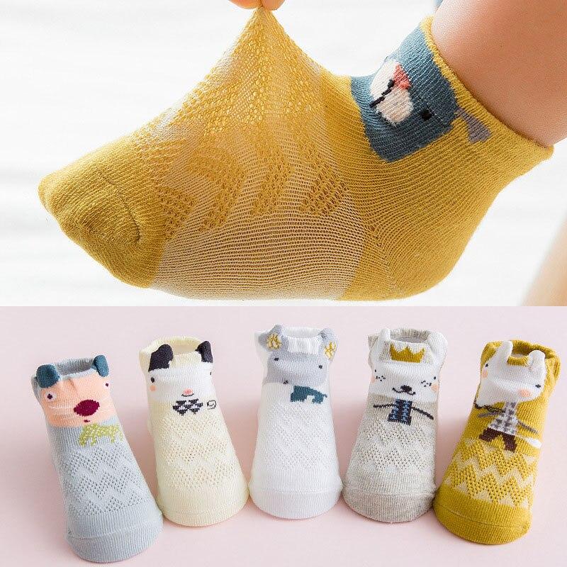 Носки хлопковые сетчатые для новорожденных 5 пар/партия Носки   