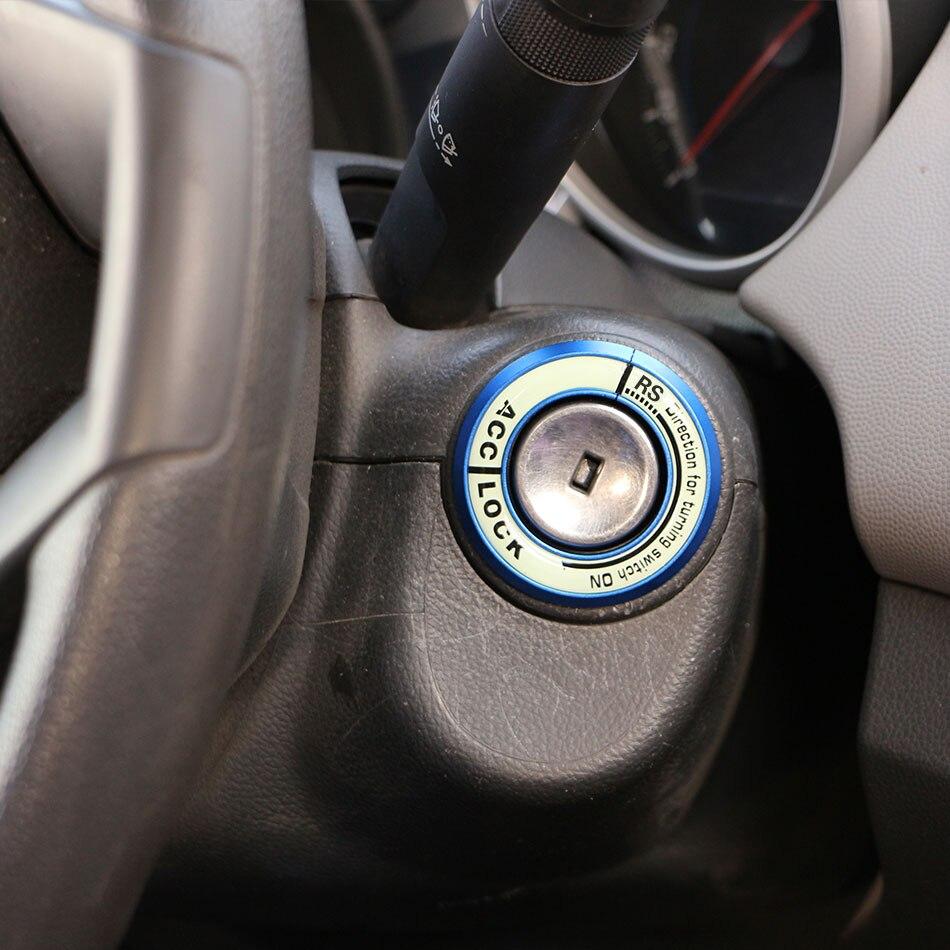 Aluminium Lichtgevende Contactsleutel Ring Sticker voor Nissan Teana X-Trail Livina Sylphy Tiida Sunny Maart Murano Geniss Juke almera