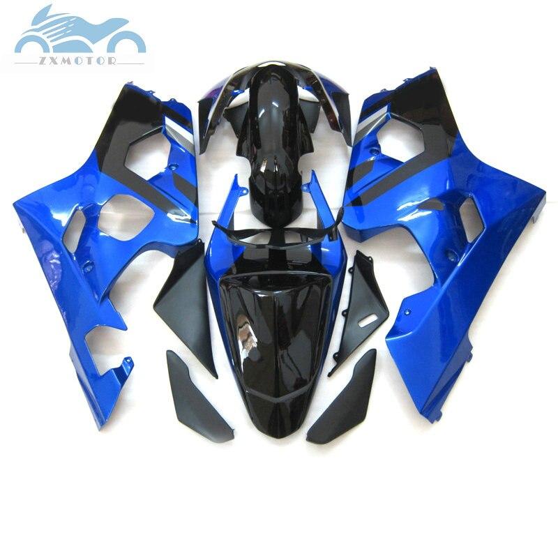 Kits de carenado personalizados gratis para SUZUKI K4 GSXR600 750, carenados deportivos para motocicletas 04 05 GSXR750 GSX R600, piezas de reparación de carrocería azul y negro