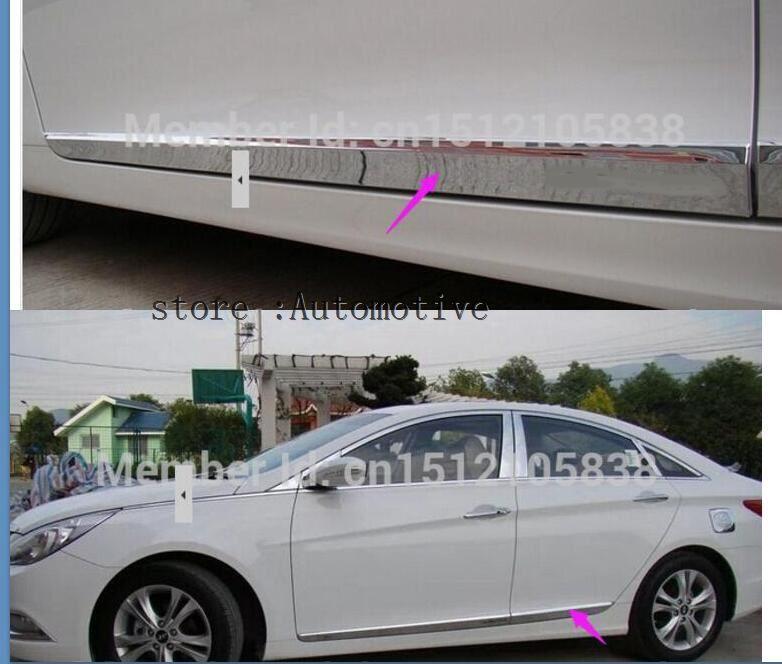 Moldura embellecedora lateral de puerta cromada para Hyundai Sonata 8 2011 2012
