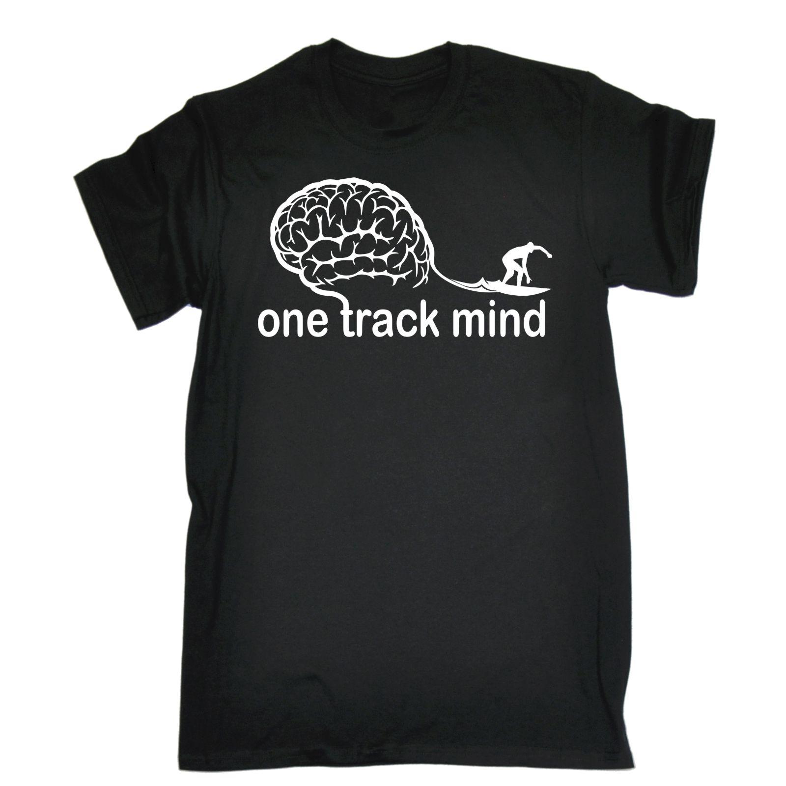 Camiseta One Track Mind Surfer para hombre, camiseta divertida para regalo de cumpleaños, ropa para Surfinger, camiseta de moda para hombre/niño, camisetas geniales de manga corta