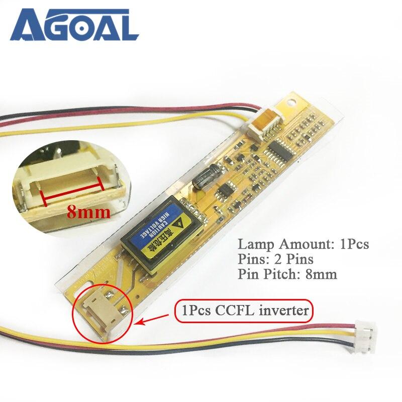 Universal 1 lámpara CCFL lámpara inversor 8mm de ancho Puerto alta presión placa para LCD 8mm Pin Pitch LED laptop