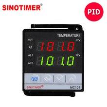 PT100 85-265V AC Sensor De K Muti-Relé de entrada e Saída SSR PID Digital Controlador de Temperatura Inteligente termostato com Alarme MC101