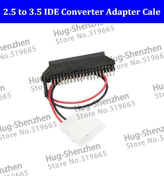 Nuevo portátil 44 pin disco duro a escritorio 40 pin IDE Disco Duro convertidor tarjeta 2,5 IDE a 3,5 IDE adaptador