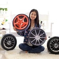 1pc 38cm 3d personalise automobile wheel tires pillow plush cushion simulate tire pillow cushions pollow cushion with filling