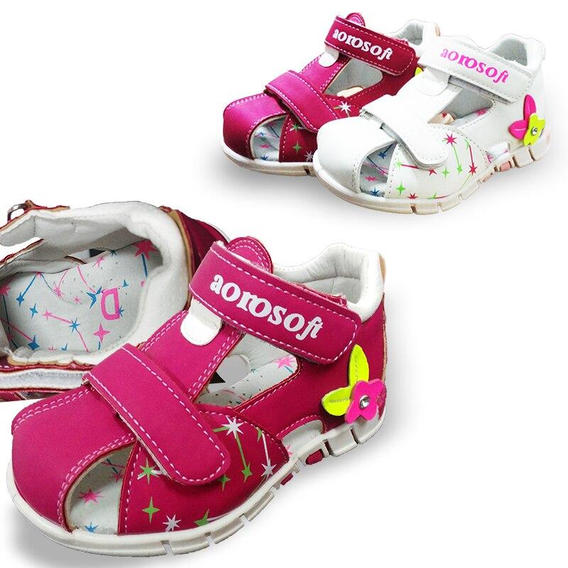 NEW 1pair Orthopedic Girl arch support  Children Sandals, Inner 13.5-18.5cm,  Super Quality Kids/Children Shoes
