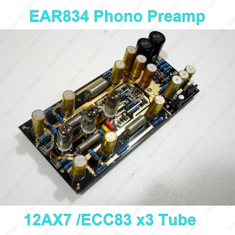 Hi-fi Tubo EAR834 MM RIAA Phono Amplificatore Preamplificatore Stereo Magnete Mobile LP Giradischi Pre-Ampifier KIT FAI DA TE, ECC83 12AX7 Tubi