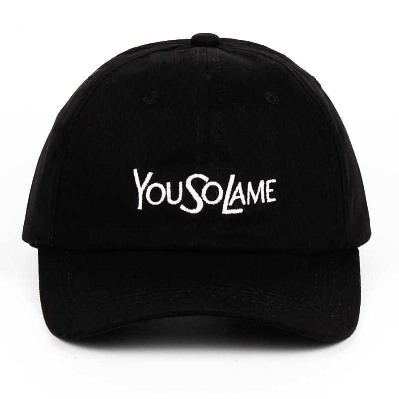Puur Katoen 2020 Nieuwe U Dus Lame Borduurwerk Vader Hoed Baseball Cap Trefwoord Yousolame Vrouwen Mannen Snapback Caps Mode Zomer hoed