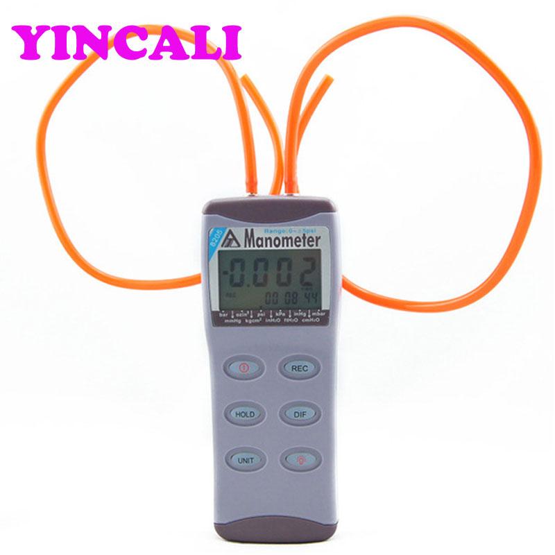 Manómetro Digital AZ8205 Manómetro Digital 0-5psi medidor de presión diferencial de precisión con 11 unidades seleccionables