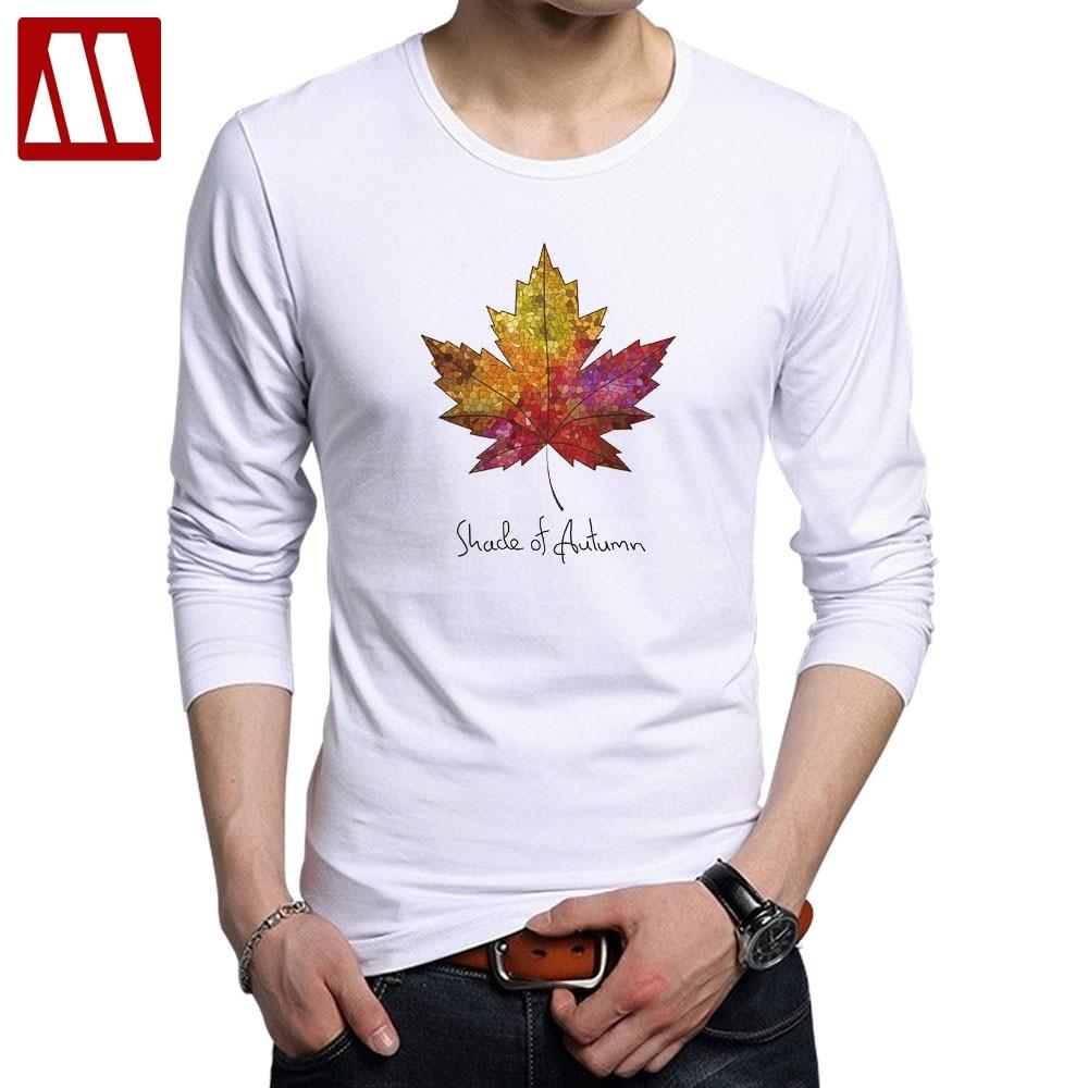 Camisetas de hombre de manga larga de Maple Leaf canadiense, camisetas casuales de moda de algodón para primavera y otoño, camiseta de Fitness Casual con bandera de Canadá para uso diario