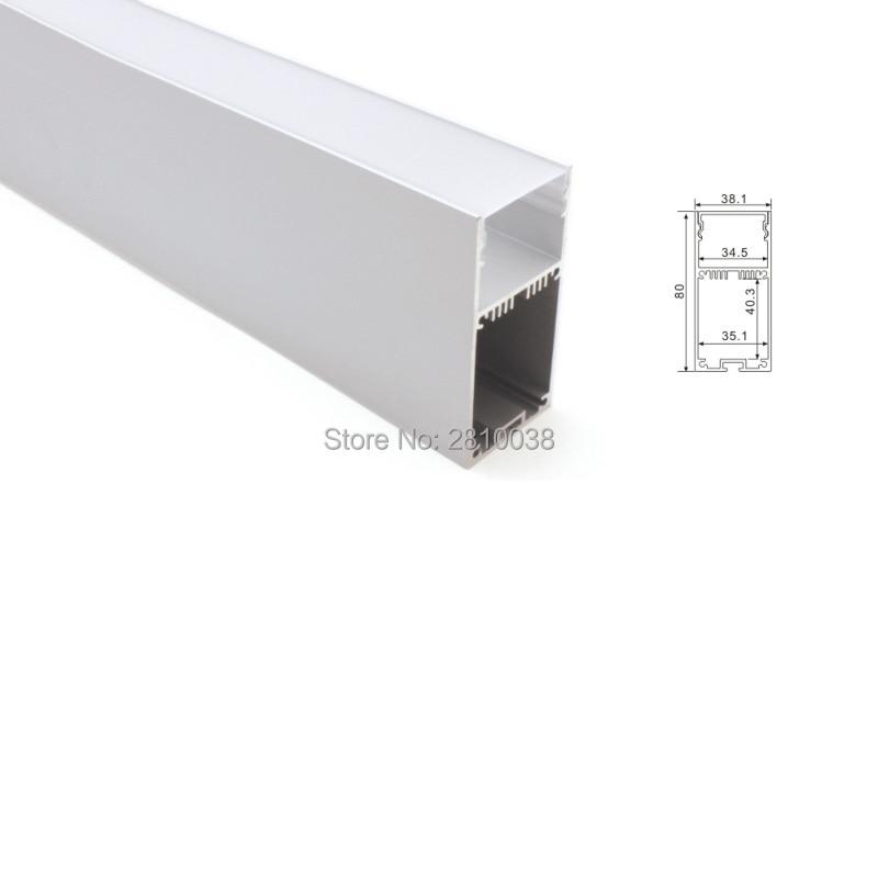 100X 1M Sets/Lot 6000 series led profile light and high U type led aluminum profile for suspending or pendant lighting