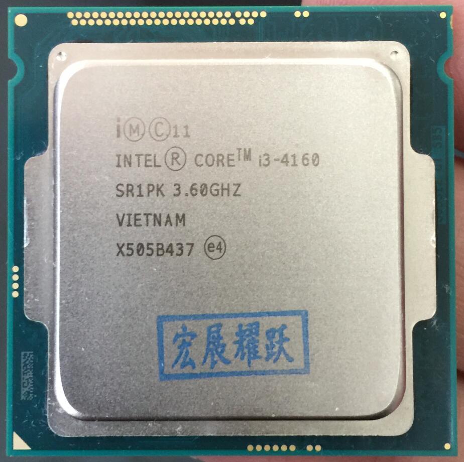 Procesador Intel Core I3 4160 I3-4160 CPU LGA1150 22 nanómetros de doble núcleo 100% que funcionan correctamente procesador de escritorio