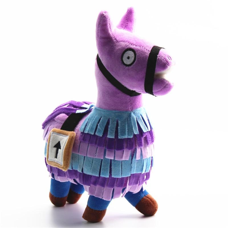 20-35cm Fortress Night Hot Game Plush Toy Troll Stash Llama Soft Alpaca Rainbow Horse Stash Stuffed Toys Kids Birthday Gift