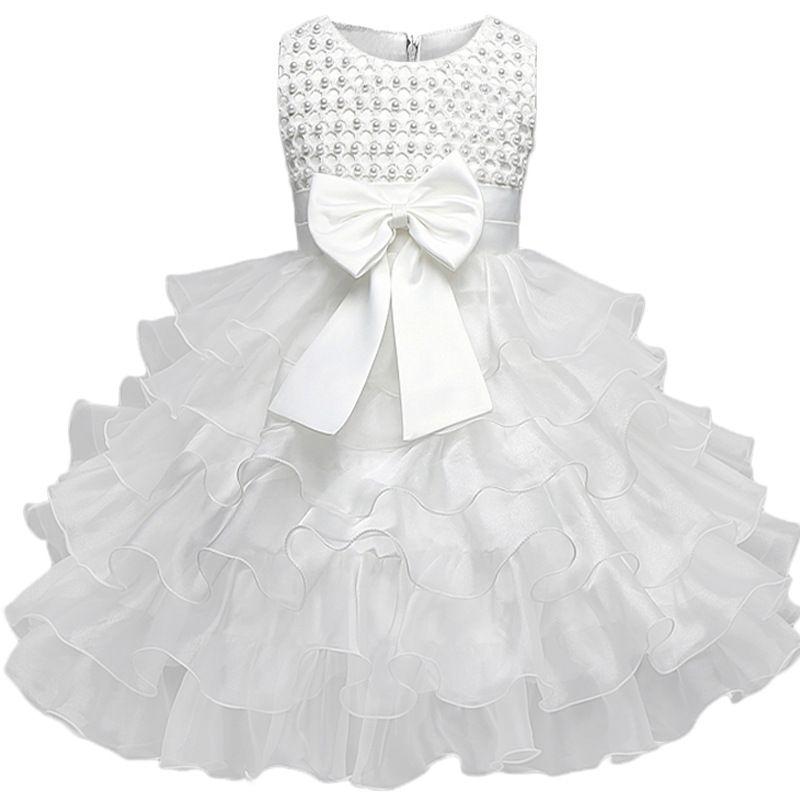 Lace Baby Girl Dresses 6M-24M 1 Years Baby Girls Birthday Dresses Girl Princess Dress Baptism Gown Vestido Infantil