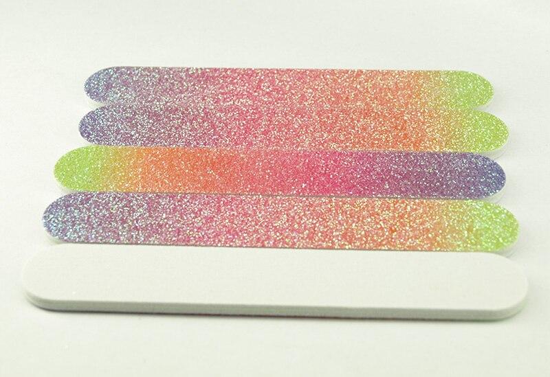 Lixas de Unha Pcs de Alta Novo! Qualidade Gradule Eva Glitter Nail Arquivos 150 Grit Lixa Branco Hot Sale Manicure Art. 120mm 50