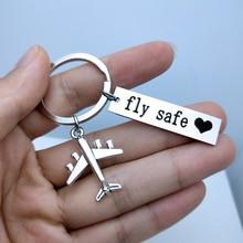 Porte-clés coffre-fort vol gravé Kiss Me   Avant avion de vol, porte-clés de clé de conduite, porte-clés pour Couples, porte-clés de pilote de vol, cadeau pour homme