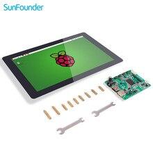 SunFounder 10,1 IPS LCD visualización pantalla táctil Monitor HDMI 1280*800 para Raspberry Pi 4B 3B + 3B 2B LattePanda Beagle hueso