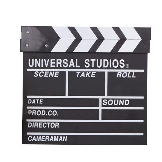 TOP 12x11 pulgadas/30 cm x 27cm de madera Director película Slateboard Clapper Junta