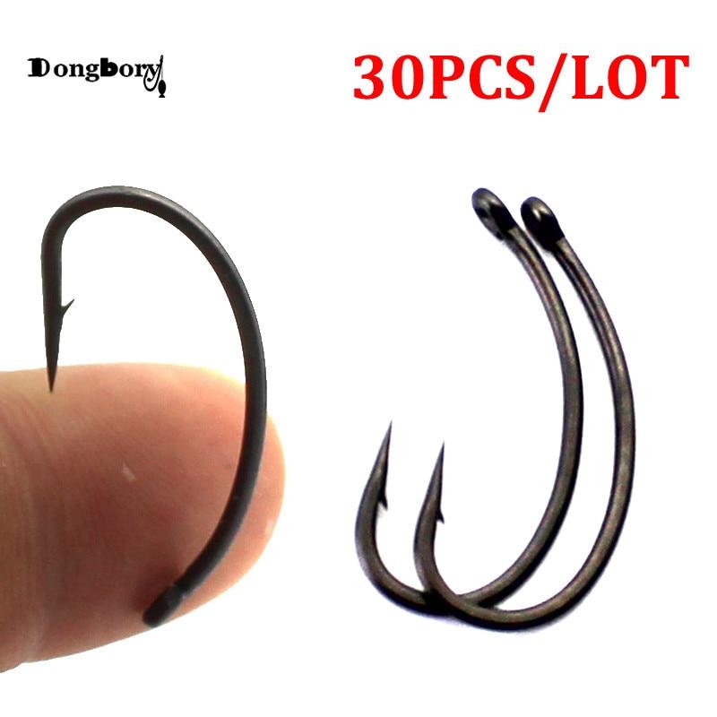 30pcs Coated Carp Fishing Hooks High Carbon Steel Fishhooks Matt Black Barbed Curve Shank Gripper Style Sharp Carp Hooks Fishhooks Aliexpress