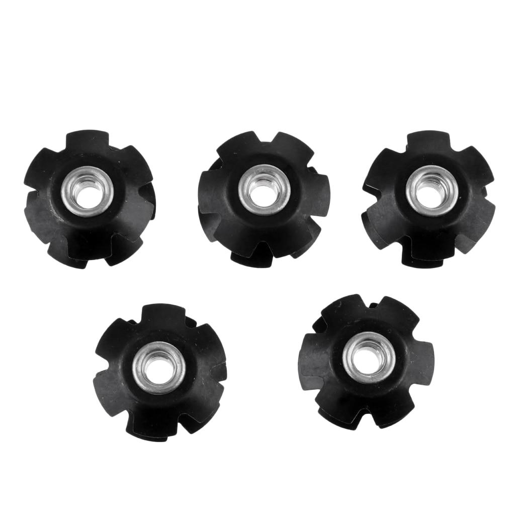 5 uds, tapa superior de auricular para horquilla de bicicleta, tuerca estrella para bicicleta MTB, tuerca en ángulo de aleación de aluminio