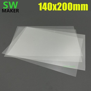 1 шт. 140x200 мм FEP сменный лист толщиной 0, 1 мм PTFE пленка для Wanhao Дубликатор 7 D7 / anycubic Photon 3D принтер