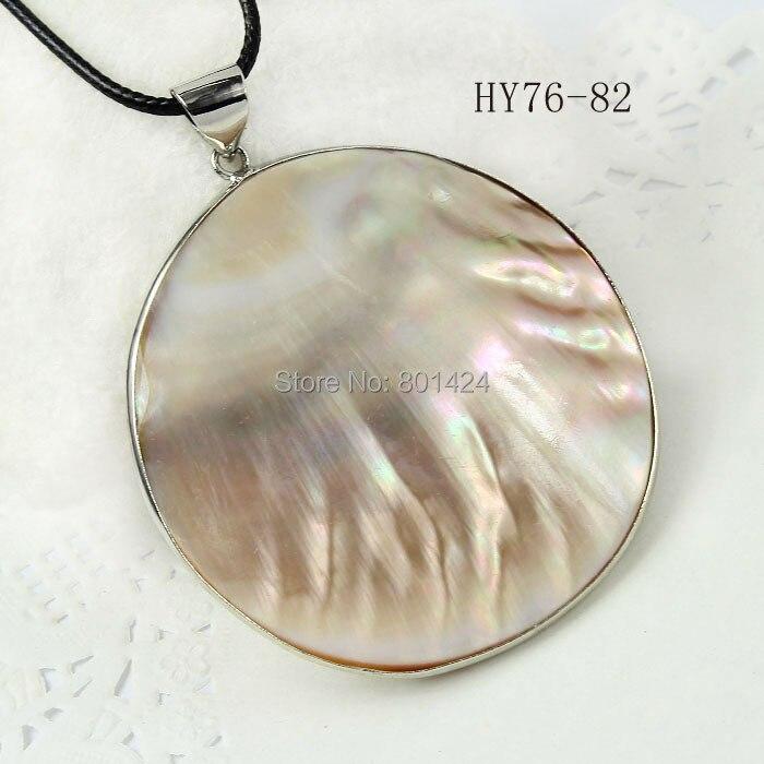 Bolha 76 - 82 Natural pérola de forma oval pingente jóias para colar