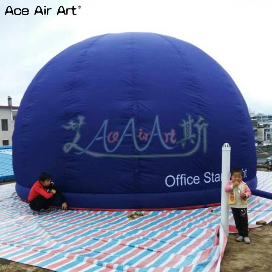 Customized half dome inflatable planetarium igloo tent with zipper door and single ring for Japan