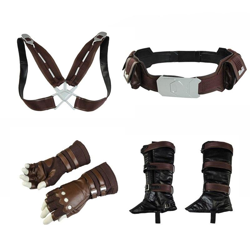 Vengadores 3 Infinity War Costume Capitán América Stevens Rogers guantes para juegos de disfraces Cinturón correa de accesorios para fiestas de Halloween