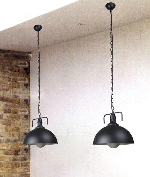 Lámpara de araña de campo americano, cortina de una sola cabeza, barbershop, lámparas industriales creativas de moda retro, comedor de hierro forjado GY144