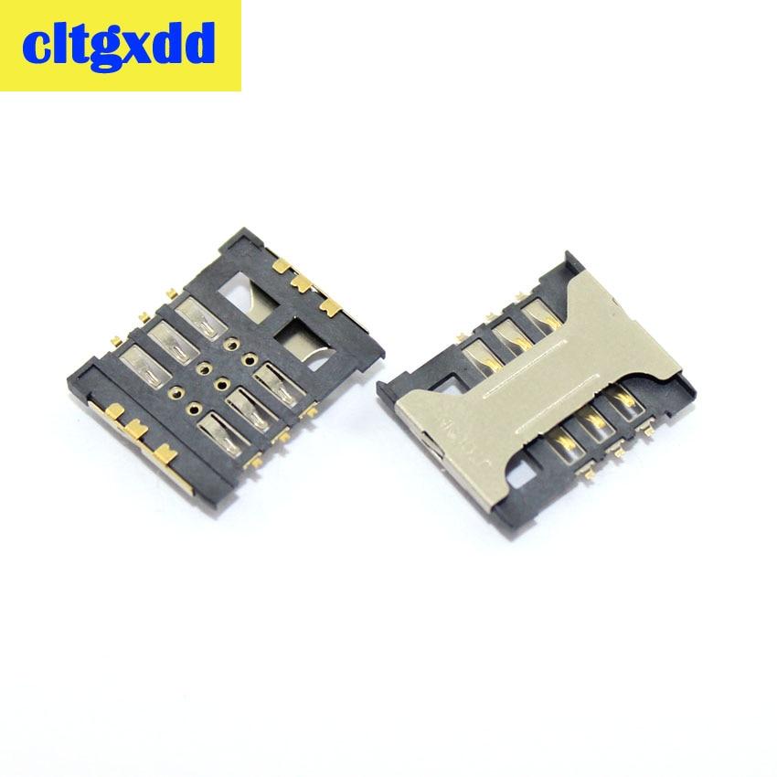 Cltgxdd 2 piezas de repuesto 16,5*14 nuevo soporte de ranura para tarjeta sim para lenovo A388T xiaomi 2 y otro móvil Y tablet sd