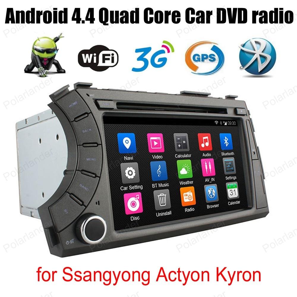 7 pulgadas Android4.4 DVD del coche para Ssangyong Actyon Kyron apoyo BT 3G WiFi DAB + OBDII enlace espejo TPMS GPS Navi EM radio