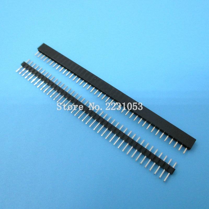 20 шт./лот 1x40 Pin 2 мм Однорядный женский и мужской штыревой разъем