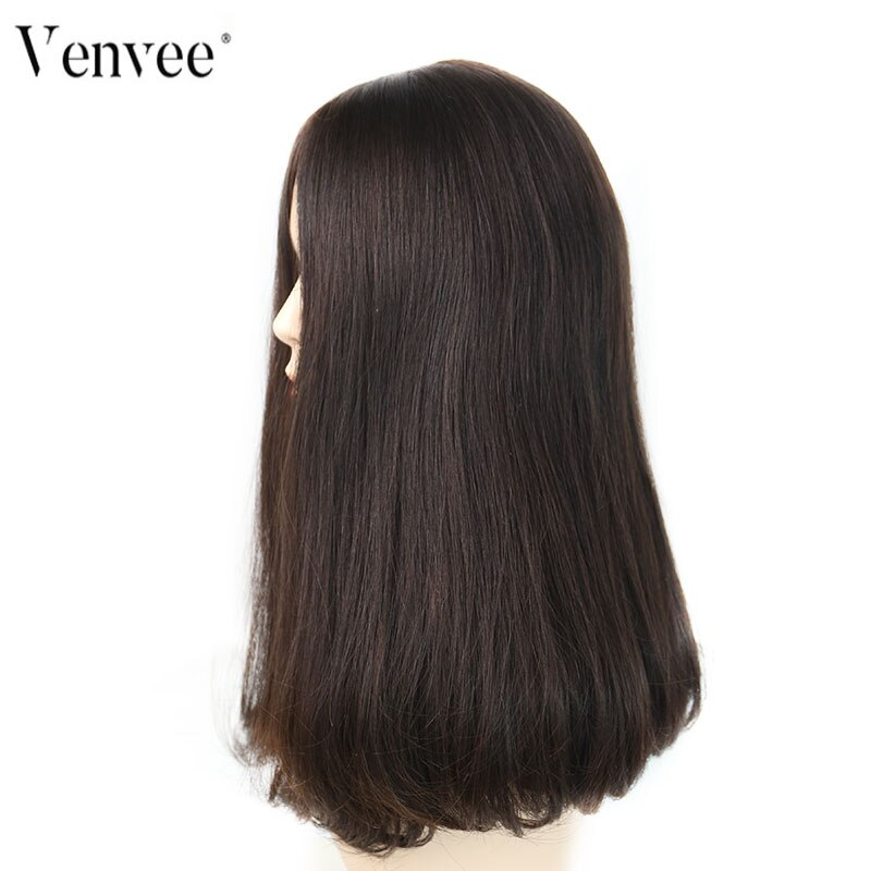 Silk Base Human Hair Wigs Double Drawn Jewish Wig Kosher European Remy Hair 4# Color Lace Wig For Women Venvee Hair