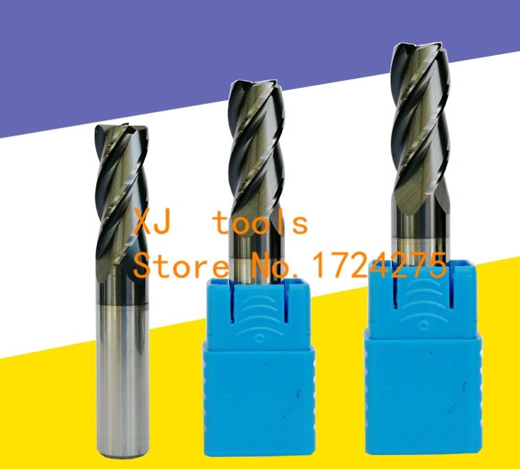 ¡Envío gratis 1 piezas 10R2! ¡0 ~ 12R2! 0 * 75L/100L 4 flutes de carburo cementado radio de esquina enrutador CNC herramienta de fresado de brocas