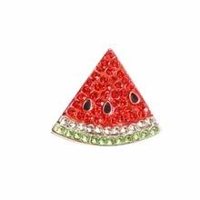 Lot de 10 pièces de boutons de strass coloré   Assortiment de 20x27mm, embellissement de boutons de strass fruits flatback pastèque (), livraison gratuite