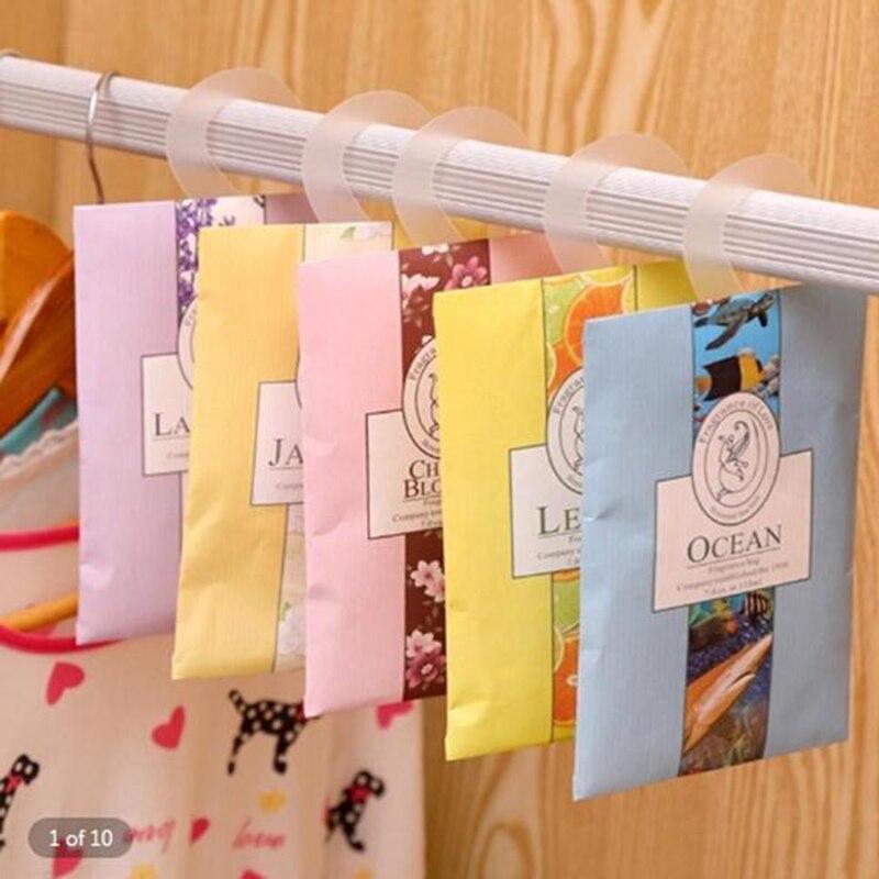 Saco de papel saquinho armário guarda-roupa do carro pode ser pendurado desodorante saquinho casa ambientador 5 estilos pode escolher 29
