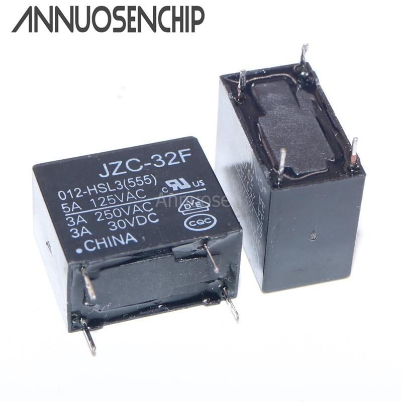 Relé de 10 Uds JZC-32F JZC-32F-012-HSL3 JZC-32F/012-HSL3 HF32F-012-HSL 4 pines 0,2 W 5A DC12V 12VDC nuevo ORIGINAL