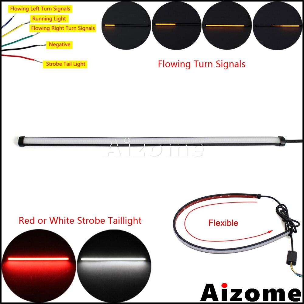 29 см, 45 см, 60 см, последовательная Светодиодная лента для мотоцикла, палка для стоп-сигнала, стоп-сигнал, переключатель, стробоскоп, задний фо...