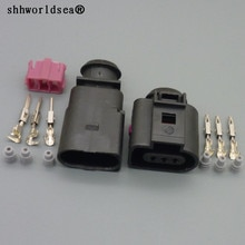 Shhworldsea 3 핀 1.5mm 남성 여성 폭스 바겐 skoda passat 자동 에어컨 압력 스위치 온도 센서 플러그 1j0973803 1j0973703