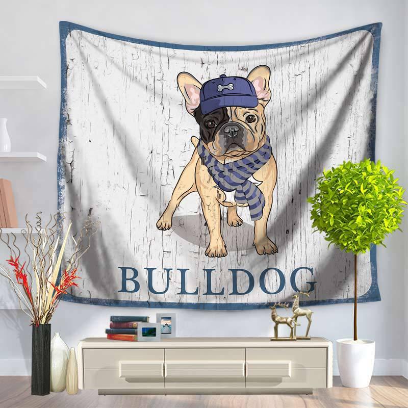 Envío gratis 1 piezas lindo perro mandala Hippie tapicería tapiz mandala Boho casa decoración pared colgante de pared Boho tapiz de pared sentado manta mantel GT023