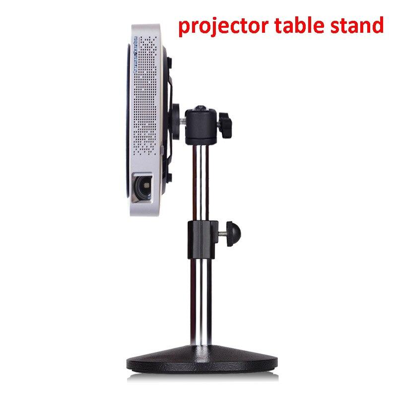 Height adjustable aluminum small mini projector desk mount table bracket holder stand