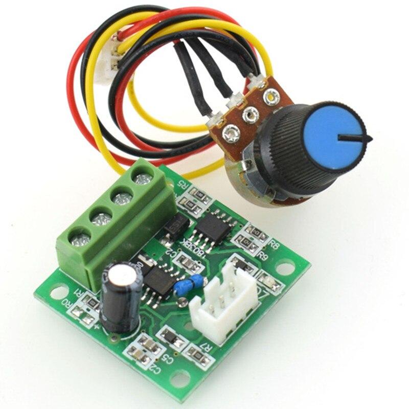 Controlador de velocidad del motor PWM regulador automático de Motor DC Módulo de Control de bajo voltaje DC 1,8 V a 15V 2A