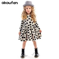 2017new baby girl dresses cotton comfortable black cat pattern printed elastic tight fitting dress for girls kids clothes