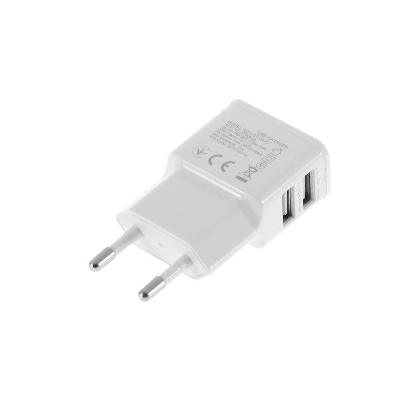 2 puertos cargador adaptador de viaje enchufe de la UE múltiples USB de pared de carga de teléfono inteligente dispositivo de teléfono para iPhone, Samsung,