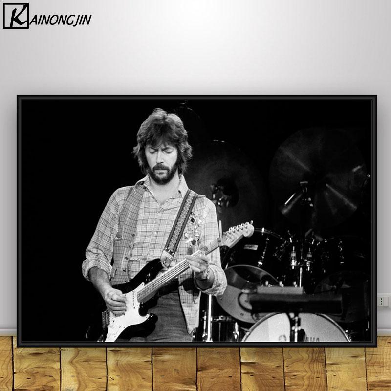 Cartel de Eric Clapton cantante de música pared pósteres e impresiones artísticos de la imagen de la pintura para la sala de Decoración de casa