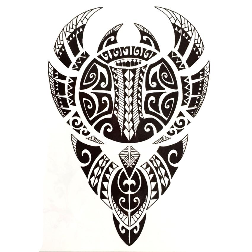 Tatuaje temporal resistente al agua tótem Tribal tatuaje falso selfie flash tatuaje harajuku hombres tatouage temporaire femme