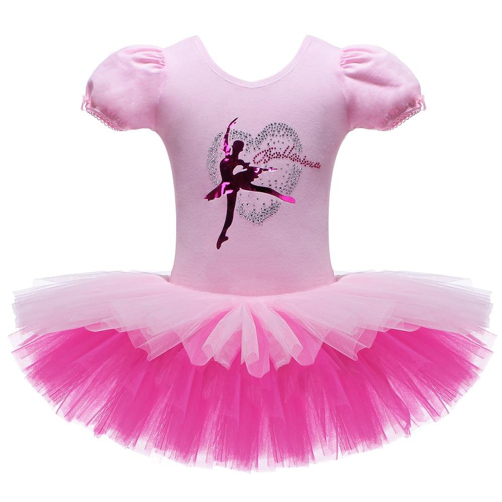 2017 nuevas niñas Ballet tutú baile leotardos deportivos bailarina Mallas de gimnasia niños Ballet vestidos Tutu Falda corta rosa